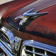 1955 Chrysler Windsor Deluxe Hood Ornament Art Print