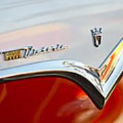 1955 Ford Fairlane Crown Victoria Emblem Art Print