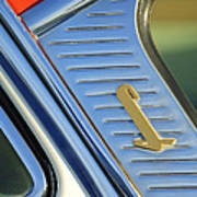1955 Lincoln Capri Emblem Art Print