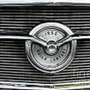 1956 Buick Century Grill Emblem Art Print