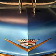 1956 Cadillac Eldorado Biarritz Convertible Hood Ornament And Emblem Art Print