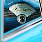 1956 Chevrolet Belair Nomad Dashboard Clock Art Print