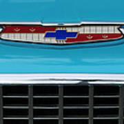 1956 Chevrolet Belair Nomad Grille Emblem Art Print