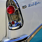 1956 Chevrolet Belair Taillight Emblem Art Print