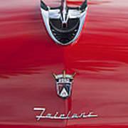 1956 Ford Fairlane Hood Ornament 7 Art Print