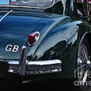 1956 Jaguar Xk 140 - Rear And Emblem Art Print