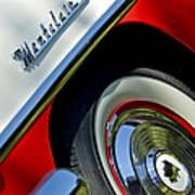 1956 Mercury Montclair Wheel Emblem Art Print