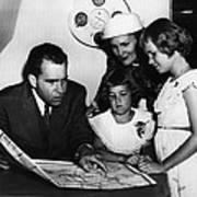 1956 Us Presidency, Nixon Family.  From Art Print
