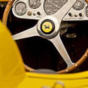 1957 Ferrari 500 Trc Scaglietti Spyder Steering Wheel Art Print