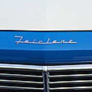 1957 Ford Fairlane Grille Emblem Art Print