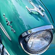 1957 Oldsmobile 98 Starfire Convertible Fender Spear Art Print