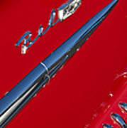1958 Chevrolet Belair Emblem Art Print
