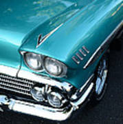 1958 Chevy Belair Front End 01 Art Print