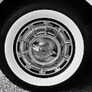 1958 Corvette White Walls Art Print