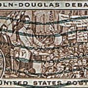 1958 Lincoln-douglas Debates Stamp Art Print
