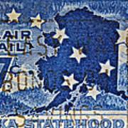 1959 Alaska Statehood Stamp Art Print