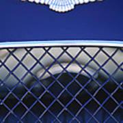 1959 Aston Martin Jaguar C-type Roadster Emblem Art Print