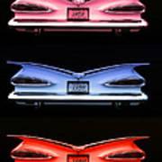 1959 Chevrolet Eyebrow Tail Lights Art Print