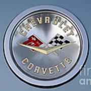 1959 Corvette Emblem Art Print