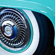 1959 Ford Ranchero Wheel Emblem Art Print