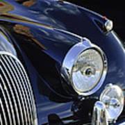 1959 Jaguar S Roadster Headlights Art Print