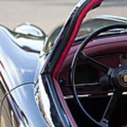 1959 Jaguar S Roadster Steering Wheel 2 Art Print