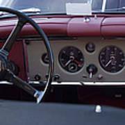 1959 Jaguar S Roadster Steering Wheel Art Print