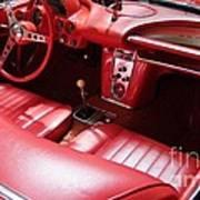 1960 Chevrolet Corvette Interior Art Print