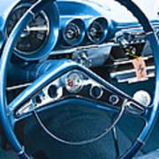 1960 Chevrolet Impala Steering Wheel Art Print