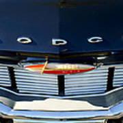 1960 Dodge Grille Emblem Art Print