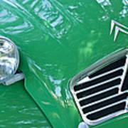 1961 Citroen 2cv Landaulet Hood Emblem Art Print