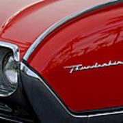 1961 Ford Thunderbird Headlight Emblem Art Print