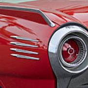 1961 Ford Thunderbird Taillight Art Print