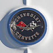 1962 Chevrolet Corvette Emblem 4 Art Print