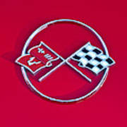 1962 Chevrolet Corvette Hood Emblem 2 Art Print