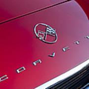 1962 Chevrolet Corvette Hood Emblem 3 Art Print