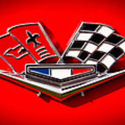 1963 Chevy Corvette Emblem Art Print
