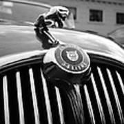 1963 Jaguar Front Grill In Balck And White Art Print