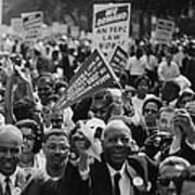 1963 March On Washington. Close-up Art Print