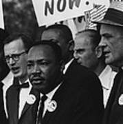 1963 March On Washington. Martin Luther Art Print by Everett