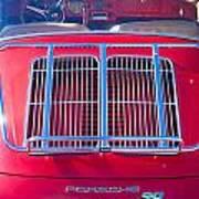 1963 Red Porsche 356b Super 90 Back End Art Print