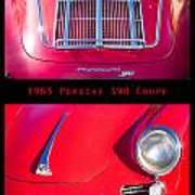 1963 Red Porsche S90 Coupe Poster S Art Print