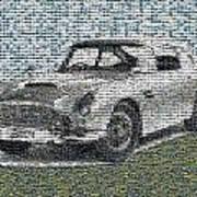 1964 Aston Martin Mosaic Art Print