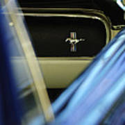1964 Ford Mustang Emblem Art Print