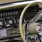 1964 Ford Thunderbird Steering Wheel Art Print