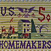 1964 Homemakers Five Cent Stamp Art Print