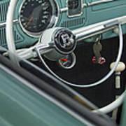 1964 Volkswagen Vw Steering Wheel 2 Art Print