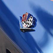 1965 Chevrolet Corvette Emblem Art Print