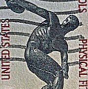 1965 Physical Fitness Stamp Art Print