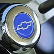 1966 Chevrolet Nova Steering Wheel Emblem Art Print